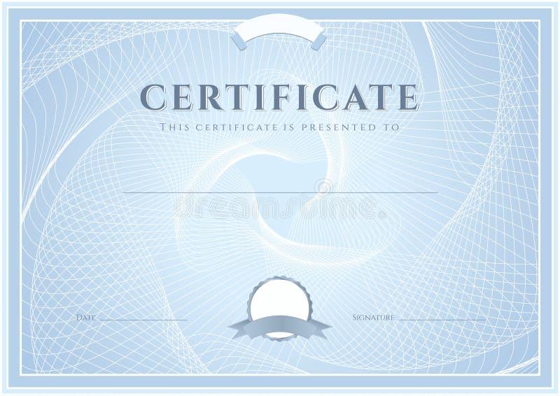 Certificate, Diploma template. Award pattern stock photo