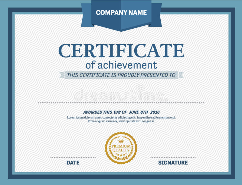 Certificate diploma template vector illustration stock vector download certificate diploma template vector illustration stock vector image 73317619 yadclub Choice Image