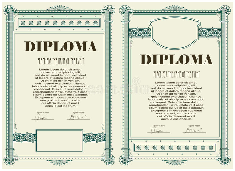 Certificate or diploma template stock vector image 35502112 download certificate or diploma template stock vector image 35502112 yadclub Choice Image