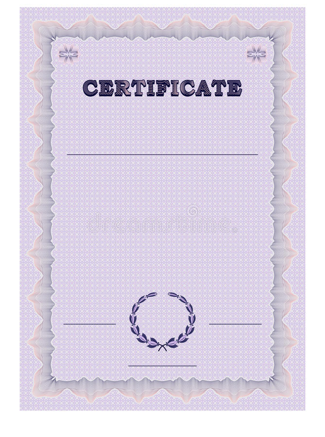 Certificate form template with guilloche background and guilloche certificate form template with guilloche background and guilloche elements vector illustration yelopaper Images