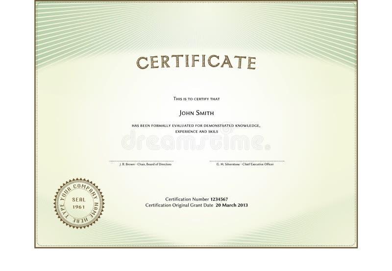Download Certificate form stock vector. Illustration of design - 30892425