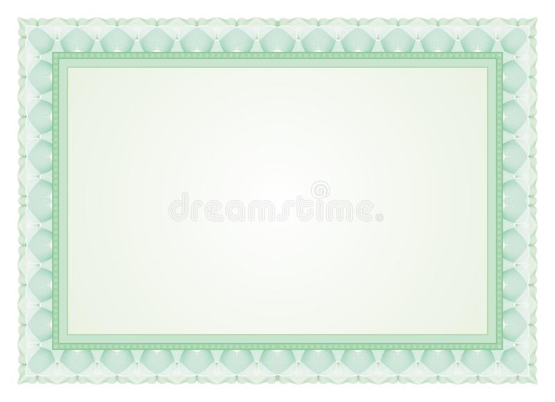 Certificate Frame Border Stock Vector Illustration Of Drawing