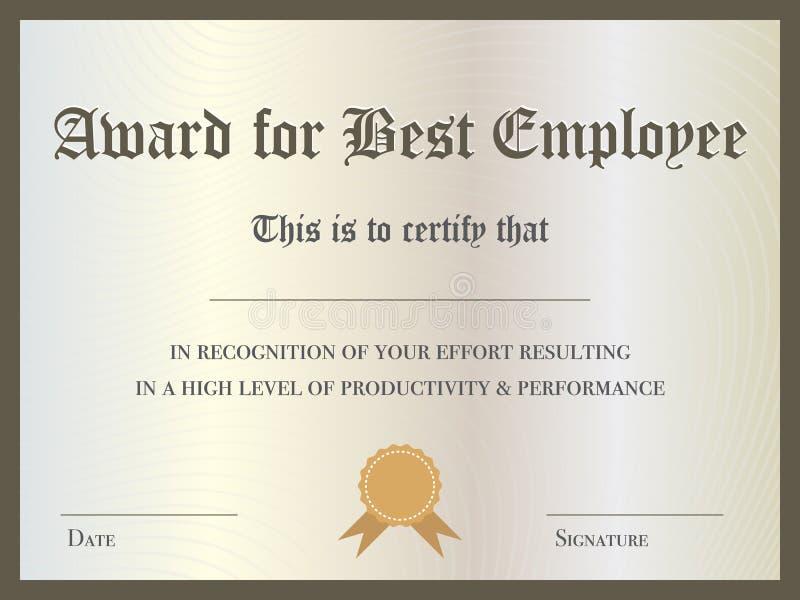best employee award certificate
