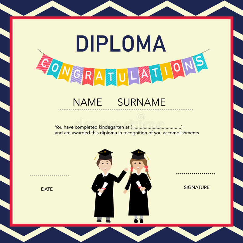 kindergarten graduation diploma template