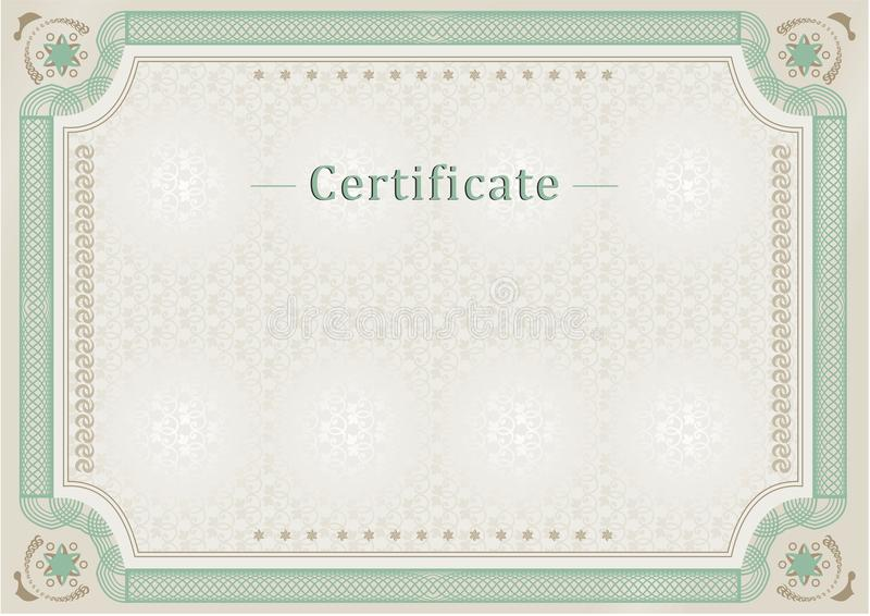 Certificate. Official document. Official border. royalty free illustration