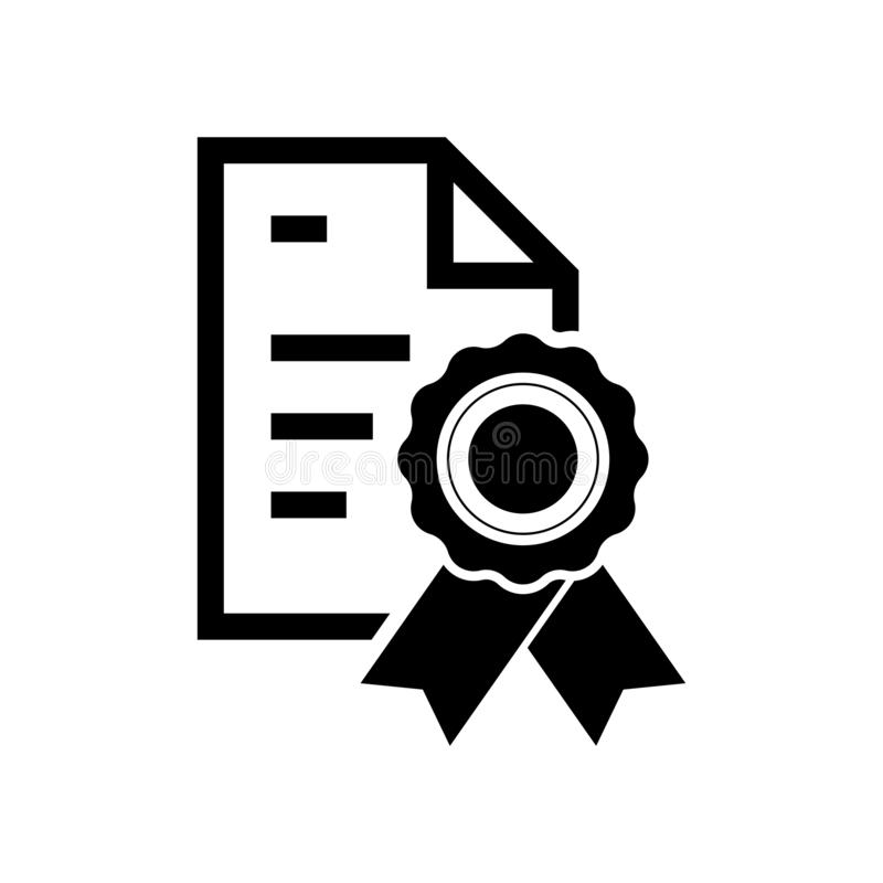Certificate paper icon flat vector illustration design. Isolated on white background royalty free illustration