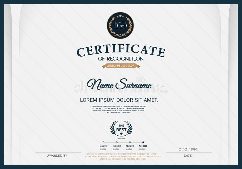 Certificate of recognition frame design template layout template download certificate of recognition frame design template layout template in a4 size stock vector illustration yadclub Choice Image