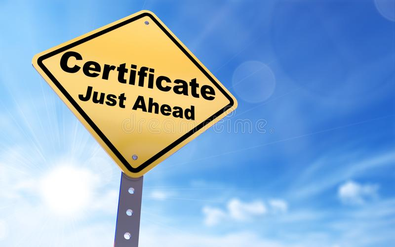 Certificate sign royalty free illustration
