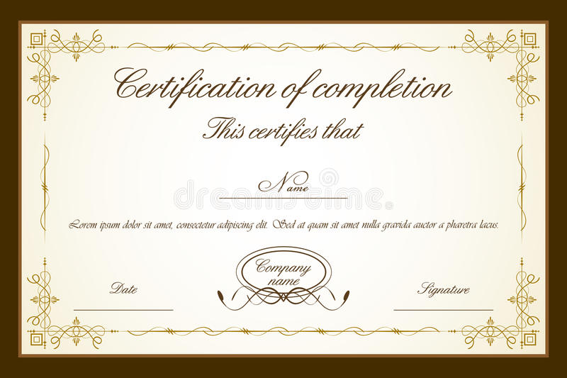 Certificate Template vector illustration