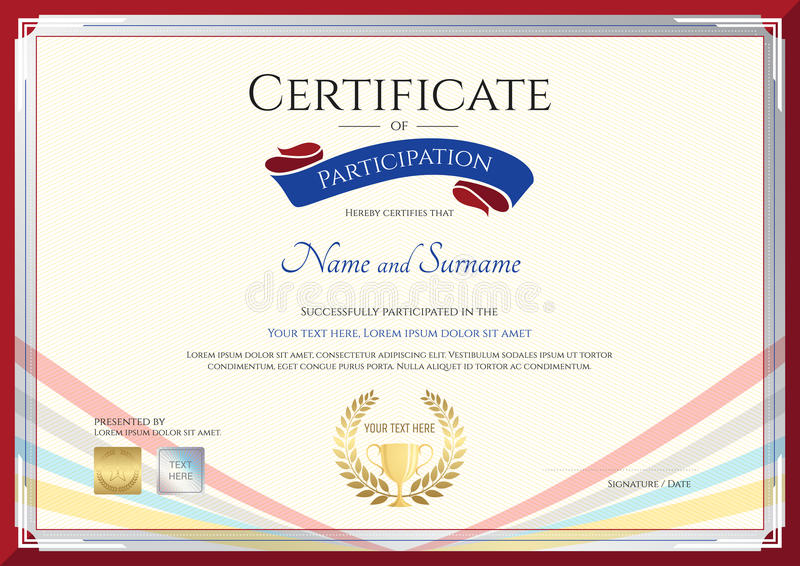 Certificate Template For Achievement Appreciation Or Participation