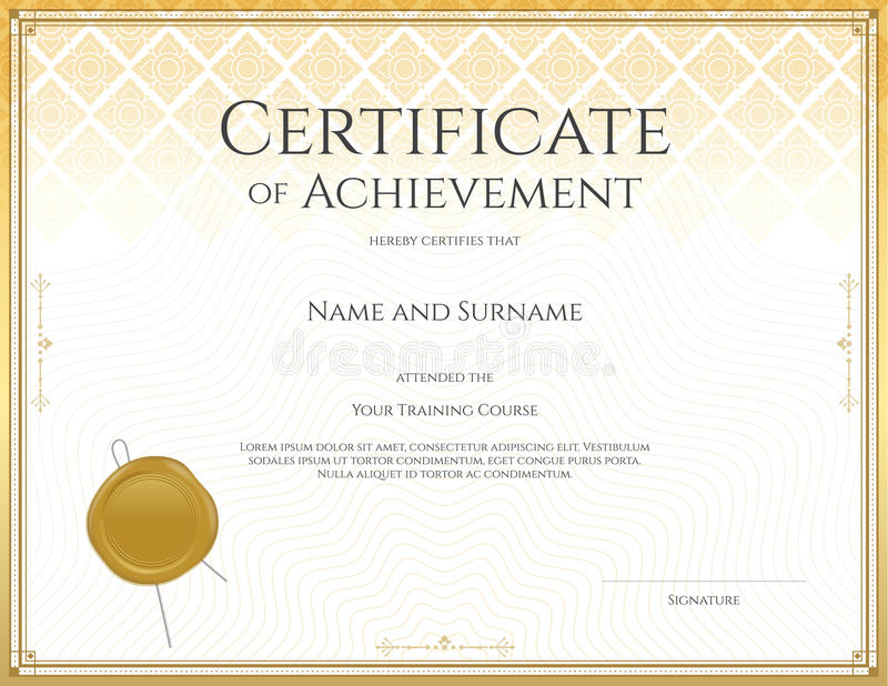 Certificate Template For Achievement, Appreciation ...