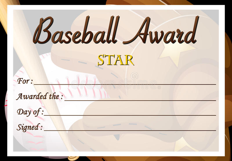 Certificate template for baseball award stock vector image 88263614 download certificate template for baseball award stock vector image 88263614 yadclub Image collections