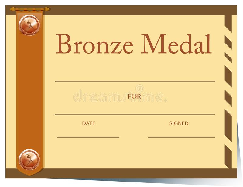 Certificate template with bronze medal stock vector illustration download certificate template with bronze medal stock vector illustration of reward honor 110256463 yadclub Image collections