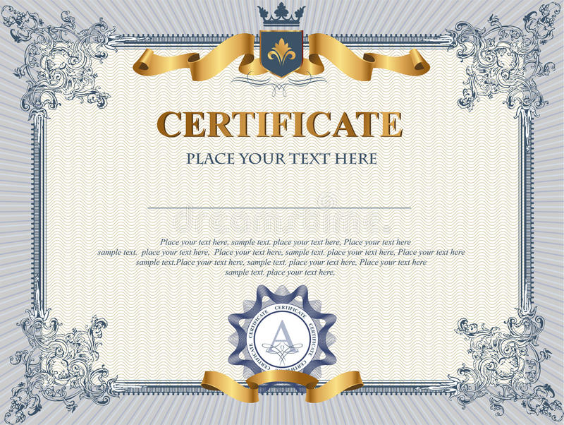 Certificate template stock photo