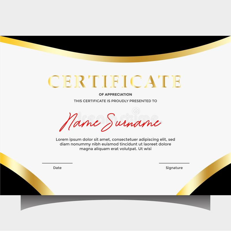 Vector certificate templates royalty free stock photo