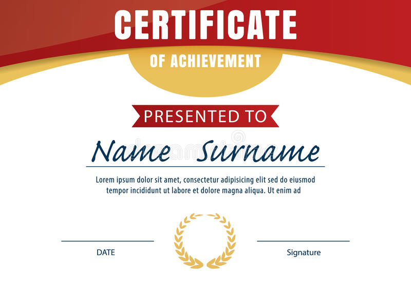 Certificate Templatediploma Layouta4 Size Stock Vector