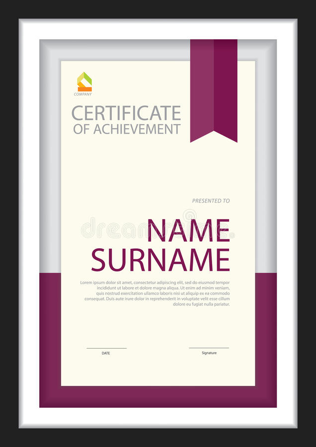 Download Certificate Template,diploma Layout. Stock Vector - Image: 83724169