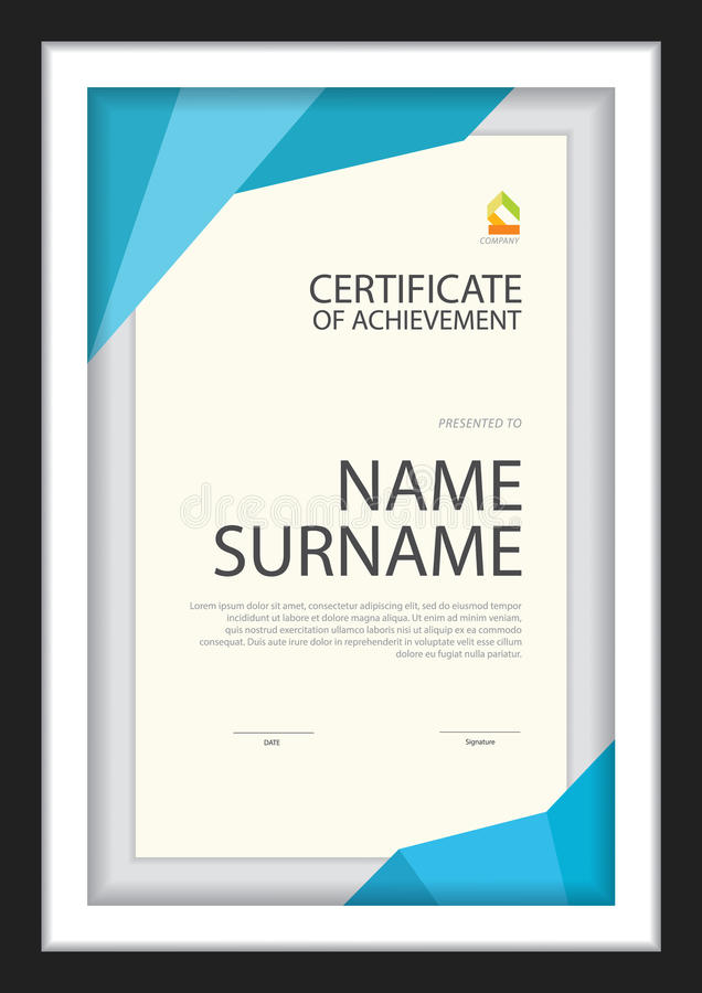 Download Certificate Template,diploma Layout. Stock Vector - Image: 83724175