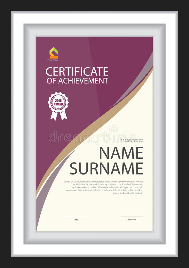 Download Certificate Template,diploma Layout. Stock Vector - Image: 83724202