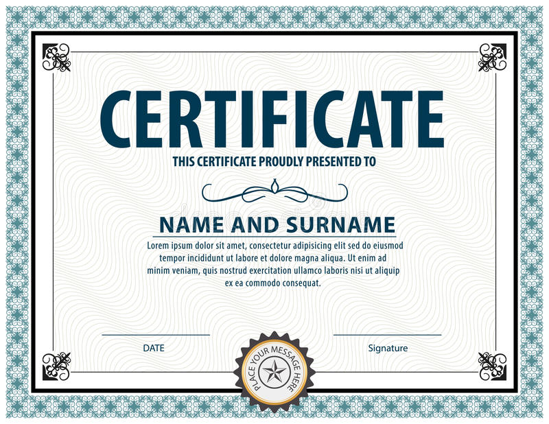 Certificate templatediplomaletter size vector stock vector download certificate templatediplomaletter size vector stock vector illustration of award yadclub Gallery