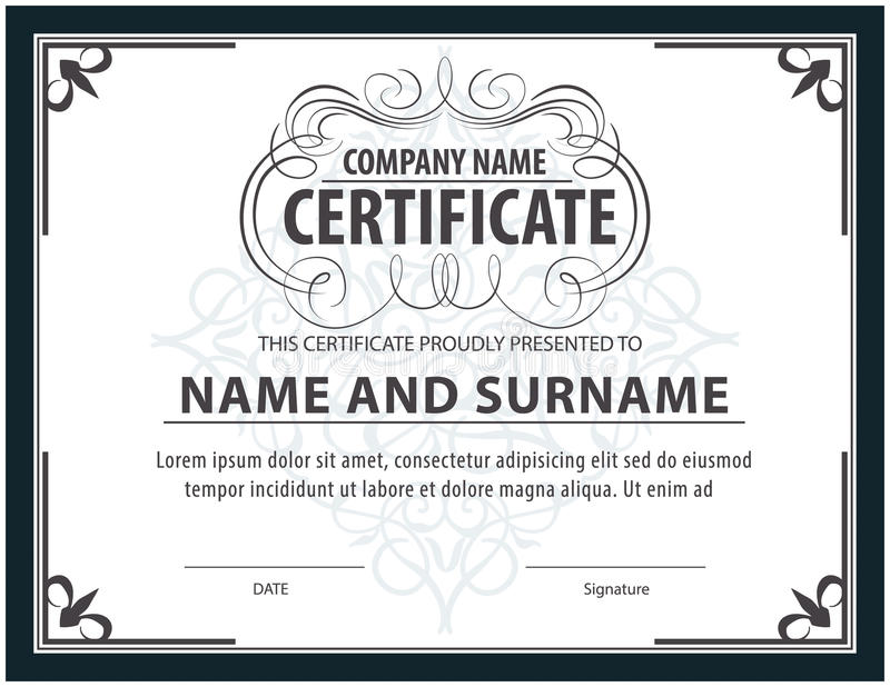 Certificate templatediplomaletter size vector stock vector download certificate templatediplomaletter size vector stock vector illustration of ornament yadclub Gallery