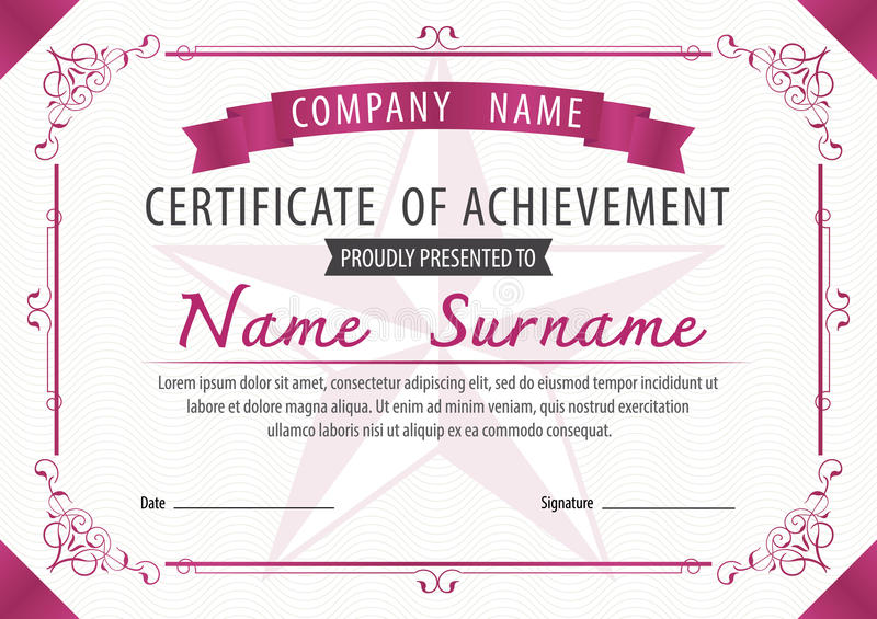 Certificate templatediplomaletter size vector stock vector download certificate templatediplomaletter size vector stock vector illustration of awards yadclub Gallery