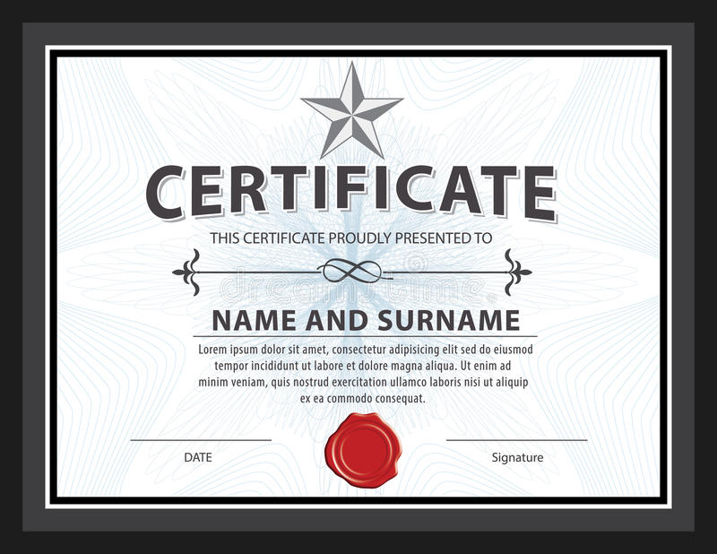 Certificate templatediplomaletter size vector stock vector download certificate templatediplomaletter size vector stock vector illustration of calligraphic yadclub Gallery
