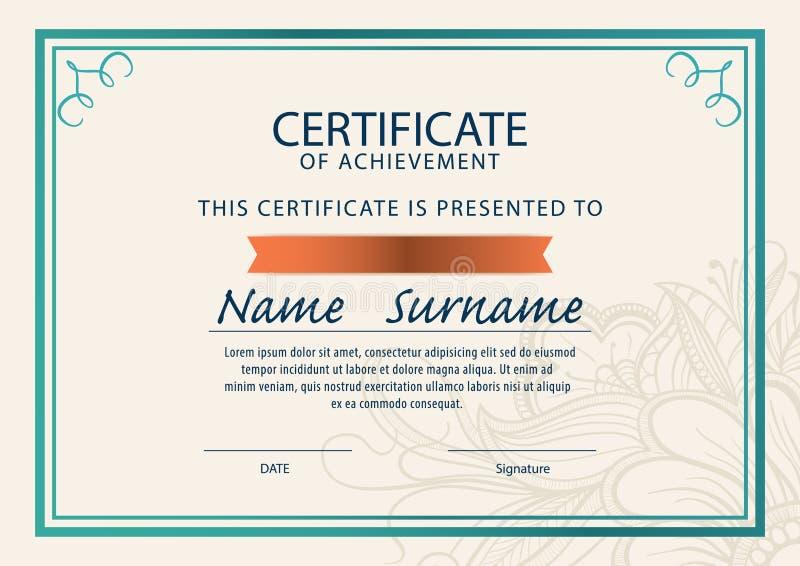 Certificate Templatediplomaa4 Size Stock Illustration