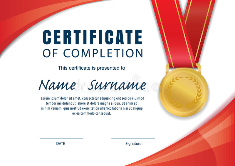Certificate Templatediplomaa4 Size Vector Stock Vector