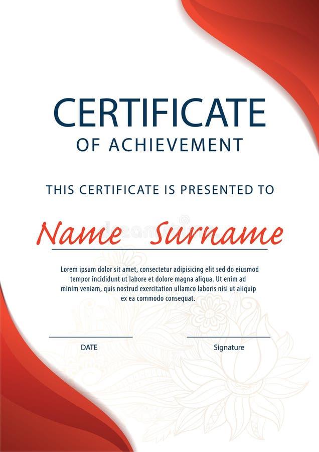 Certificate Templatediploma A4 Size Vector Stock Vector