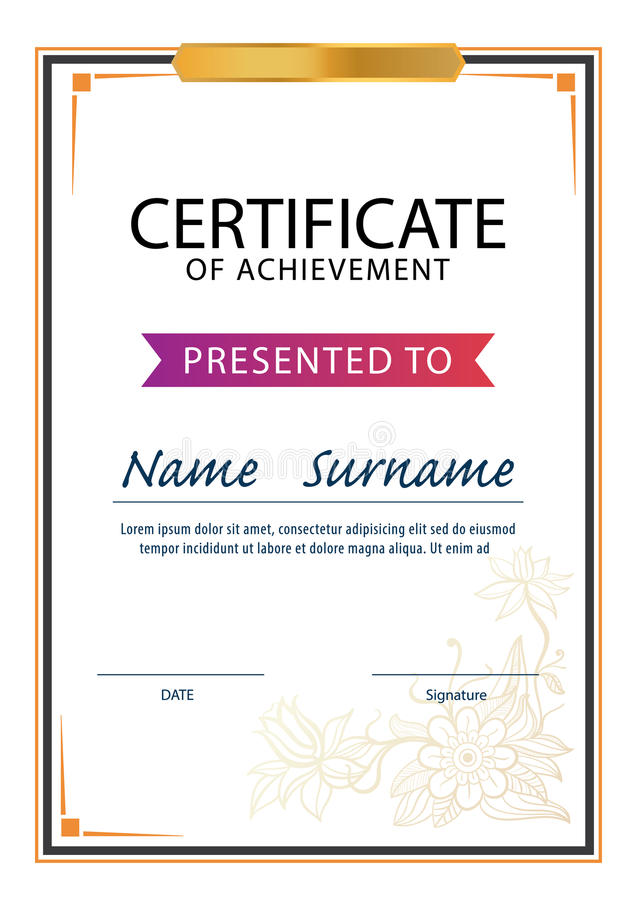 Certificate templatediploma a4 size vector stock vector download certificate templatediploma a4 size vector stock vector illustration of paper yelopaper Image collections