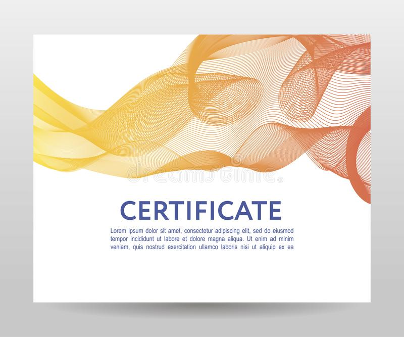 Certificate. Template diplomas, currency. Vector gradient frame. Certificate. Template diplomas currency Vector gradient, design, frame, print, award, background stock image