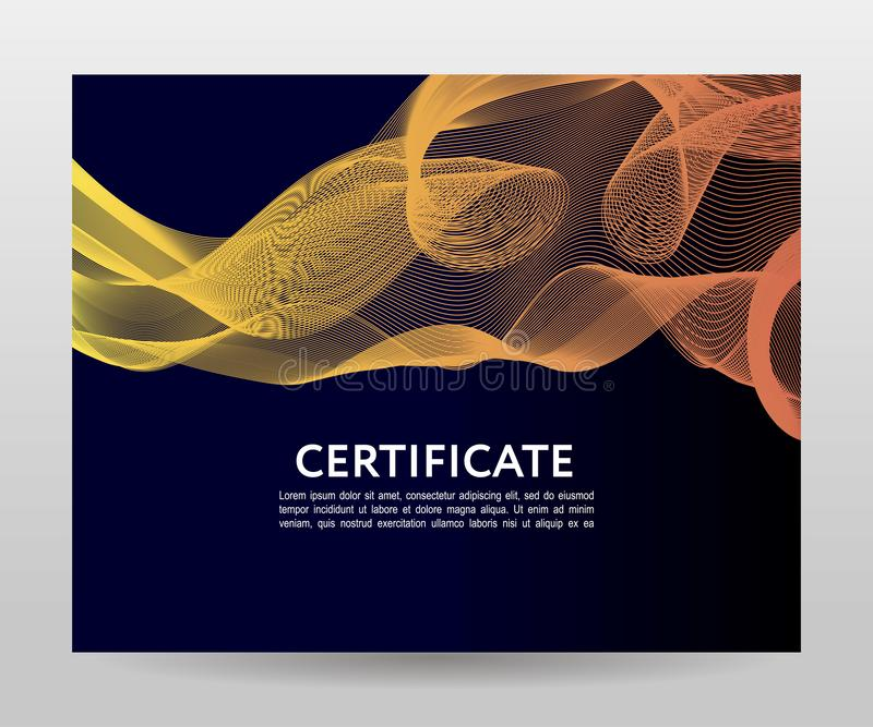 Certificate. Template diplomas, currency. Vector gradient frame. Certificate. Template diplomas currency Vector gradient, design, frame, print, award, background stock photo