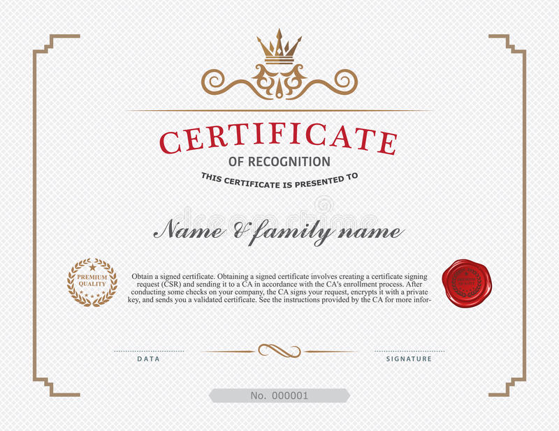Certificate template and element stock vector illustration of download certificate template and element stock vector illustration of decoration award 50691716 yadclub Choice Image