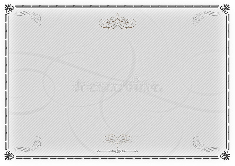 Download Certificate Template Gray V2 Stock Photo - Image of honour, click: 764542
