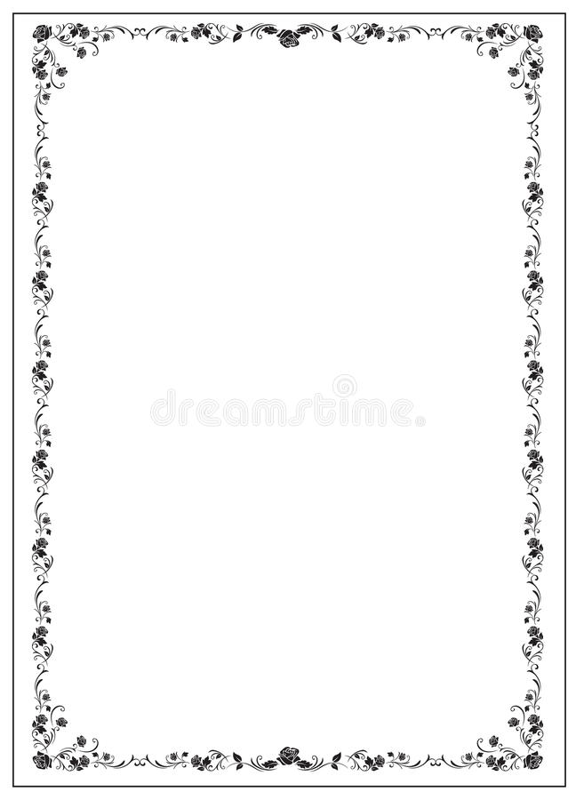 Certificate Template With Floral Rose Elements Stock Vector - Patent certificate template