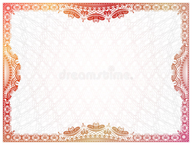 Certificate Template With Guilloche Elements Stock Vector ...