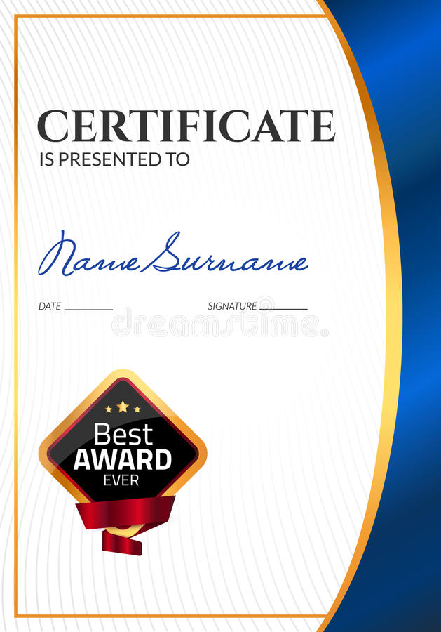 Certificate template luxury award vector business diploma with seal download certificate template luxury award vector business diploma with seal stamp gift coupon or flashek Gallery