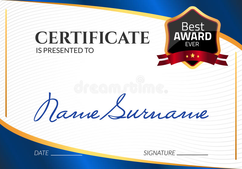 Certificate template luxury award vector business diploma with seal certificate template luxury award vector business diploma with seal stamp gift coupon or success achievement fbccfo Image collections