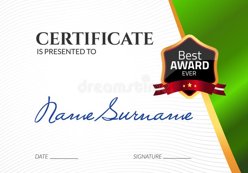 Certificate template luxury award vector business diploma with seal download certificate template luxury award vector business diploma with seal stamp gift coupon or wajeb Gallery