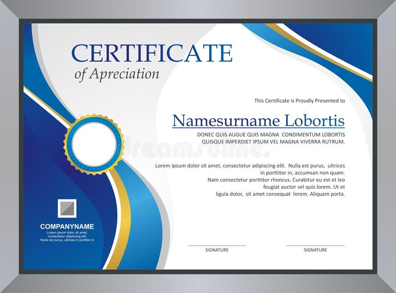 Certificate Template royalty free illustration
