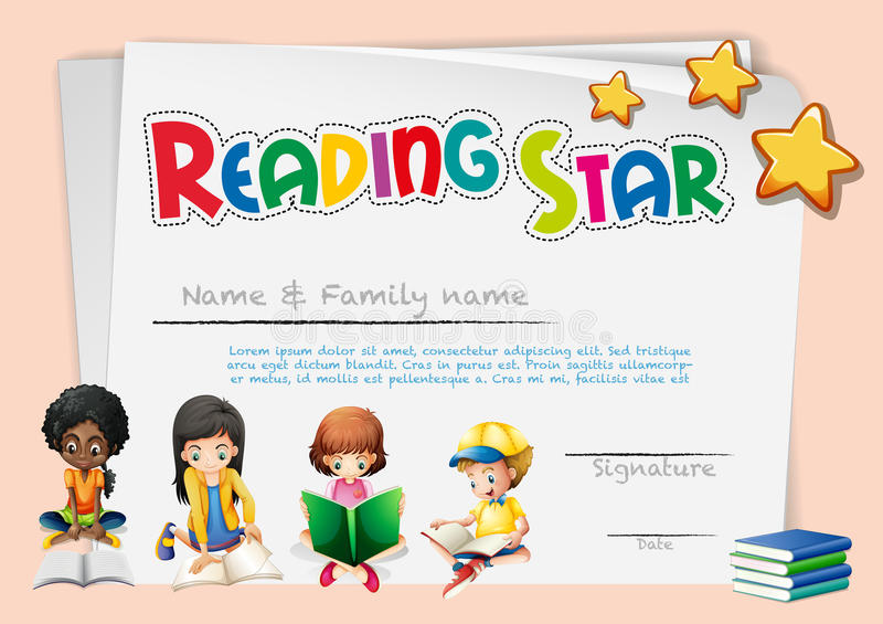 Certificate template for reading star stock vector illustration of download certificate template for reading star stock vector illustration of award certification 87476228 yadclub Choice Image