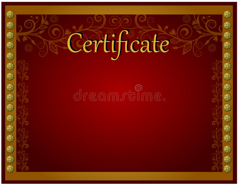 Download Certificate template stock photo. Image of full, luxury - 62814142
