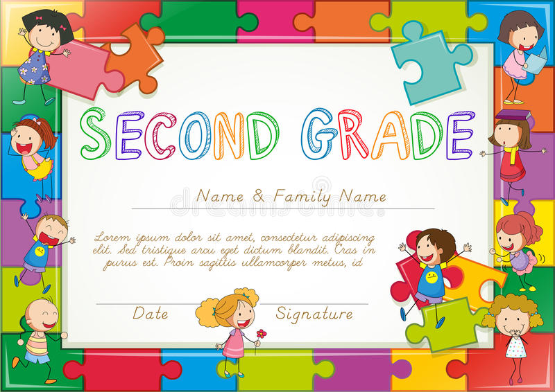Certificate template for second grade students stock vector download certificate template for second grade students stock vector illustration of image prize yadclub Choice Image