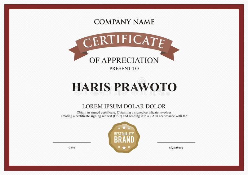 Certificate Template. Suitable for your Company. Improve your visibility. Professional and effective logo. Editable color and scal stock photography