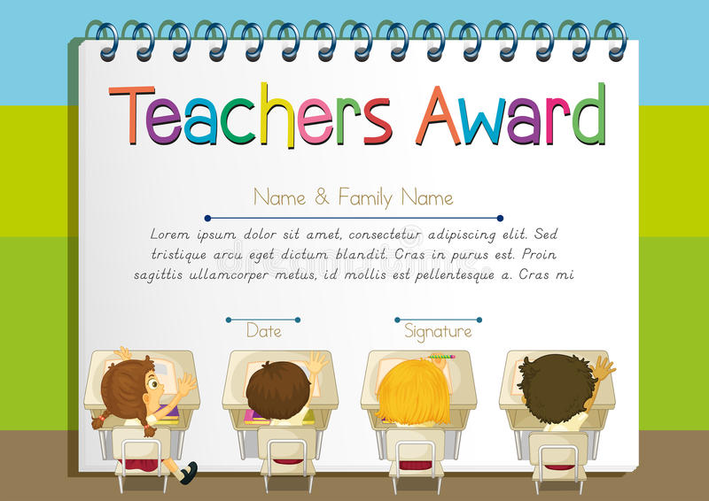 Certificate template for teachers award stock vector download certificate template for teachers award stock vector illustration of template winning 87475213 yadclub Image collections