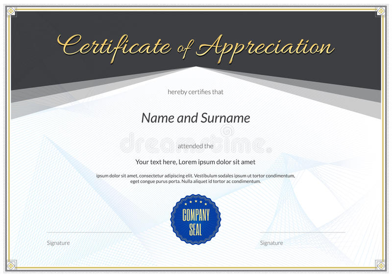 Certificate template in vector for achievement graduation comple download certificate template in vector for achievement graduation comple stock vector illustration of appreciation yadclub Images