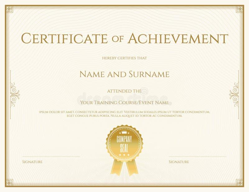 valedictorian award certificate template - certificate template in vector stock vector image 64613621