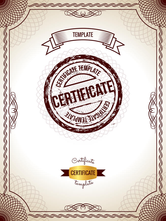 Certificate Template Vector Illustration Of Gold Detailed Blank