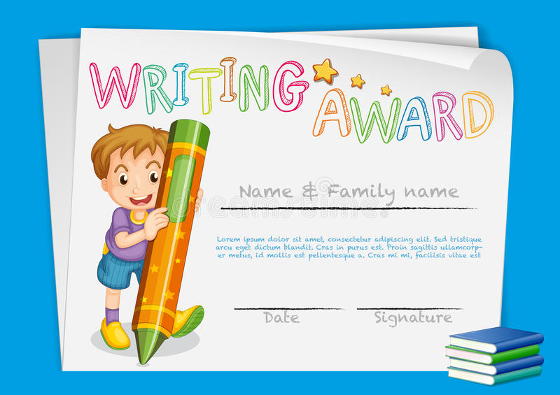 Certificate template for writing award stock vector illustration download certificate template for writing award stock vector illustration of award drawing 87475318 yelopaper Gallery